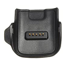 Dock Charger - SODIAL(R) Charging Cradle Dock Charger For Samsung Galaxy Gear Fit SM-R350 Smart Watch Pro Black