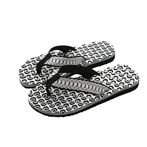 Inkach Mens Sandali Estivi - Ciabattine Da Bagno Infradito Sandali Pantofole Pavimento Indoor / Outdoor Uomo Nere