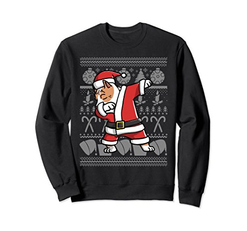Unisex Pit Bull Dabbing Ugly Christmas Sweatshirt Dog Gift Medium (Pitbull Christmas Costumes)