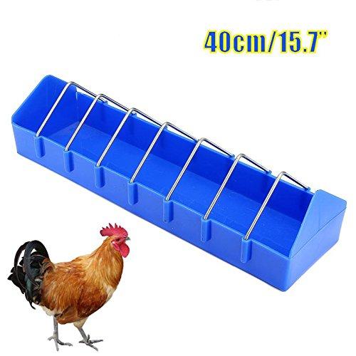(Plastic Pet Birds Chicken Feeder 40cm Water Dishes Dispenser Drinker Pigeons Chicks Hen Quail Farm Animals Supplies Accessories)