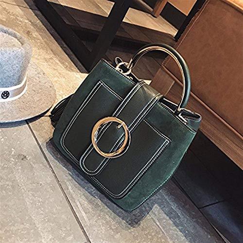 a tracolla borsa Moontang Borsa tracolla secchiello Colore Dimensione Verde rosso Vino piccola a portatile SWEnIEr0q