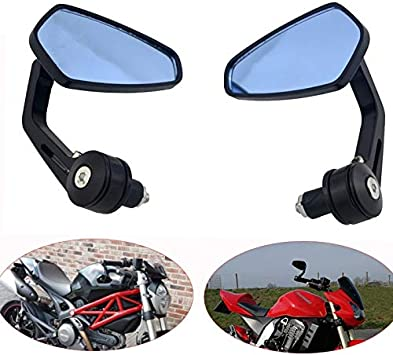 """Black Motorcycle 7//8/"""" Handle Bar End Side Rearview Mirrors For Yamaha XSR900"""