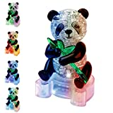 Coolplay 3D Crystal Puzzle Panda Gifts, Desk Toys with Light-Up Base 58 Pieces
