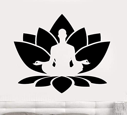 jiushivr Meditación Tatuajes de Pared Sala de Yoga Vinilo ...