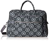 Vera Bradley Iconic Grand Weekender Travel Bag, Signature Cotton, Charcoal Medallion