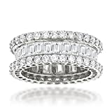 Luxurman Ladies 14K Rose, Yellow or White Gold Natural Diamond Eternity Band (5.5 Ctw,G-H Color)