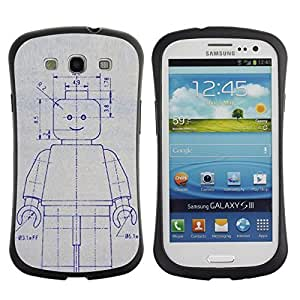 Be-Star Colorful Printed Design Anti-Shock Iface First Class Tpu Case Bumper Cover For SAMSUNG Galaxy S3 III / i9300 / i747 ( robot drawing sketch ai future art machine ) Kimberly Kurzendoerfer