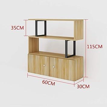 ACZZ Estantería de artículos varios, estantería, cubo de madera ...