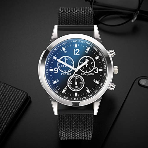 Star_wuvi Mens Watch Ultra Thin Wrist Watches for Men Fashion Stainless Steel Band Quartz Bracele Watch by Star_wuvi (Image #2)