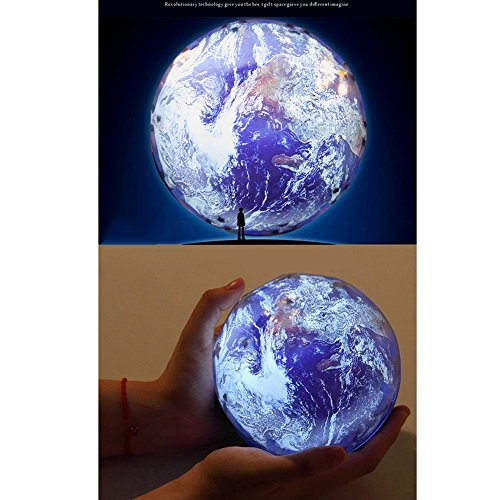 Accreate Projection Lamp USB Chargeable Colourful Whirling Projection Lamp Decoration (with Birthday & Starry Sky & Universe Projection Film) by Accreate (Image #2)