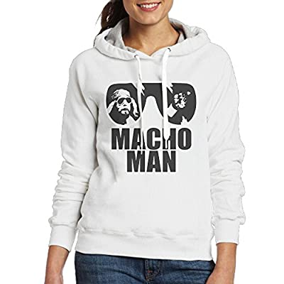 Macho Man Women's Hoodies White
