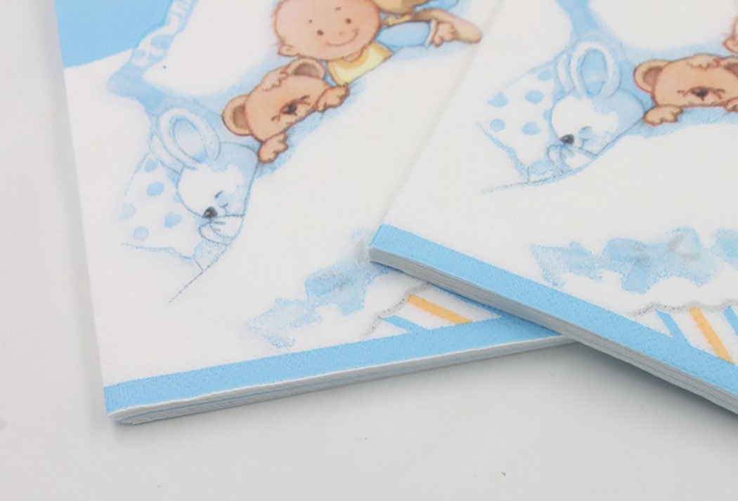 Coxeer 100PCS Cute Napkin Paper Napkin Cartoon Bear Printed Napkin for Birthday Baby Shower Party by Coxeer (Image #6)