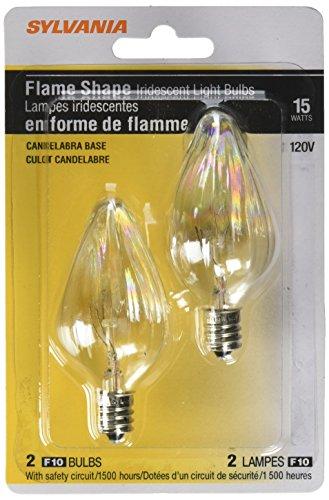 Sylvania 13434 - 15FC/IC/BL/2PK 120V F10 Decor Flame Tip Light Bulb by Sylvania