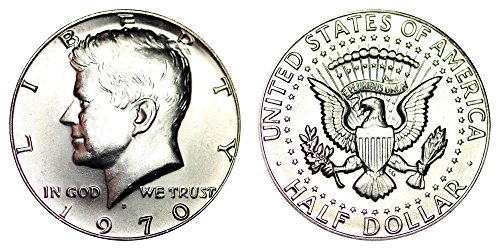 1963 Kennedy Half Dollar (1970 D US Mint Brilliant Uncirculated Silver Kennedy Half BU)
