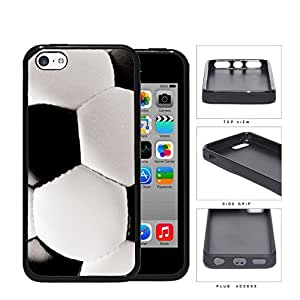 Black and White Soccer Ball Sports Hard Rubber TPU Phone Case Cover iPhone 5c