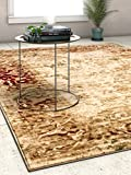Astria Beige Vintage Floral Beige & Red Area Rug Traditional 8 x 11 (7'10'' x 10'6'') Modern Distressed