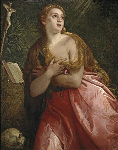 [Oil painting 'Veronese Paolo Penitent Mary Magdalene 1583 ' printing on polyster Canvas , 18 x 23 inch / 46 x 58 cm ,the best Game Room gallery art and Home artwork and Gifts is this High Resolution Art Decorative Prints on Canvas] (Bloody Mary Costume Pictures)