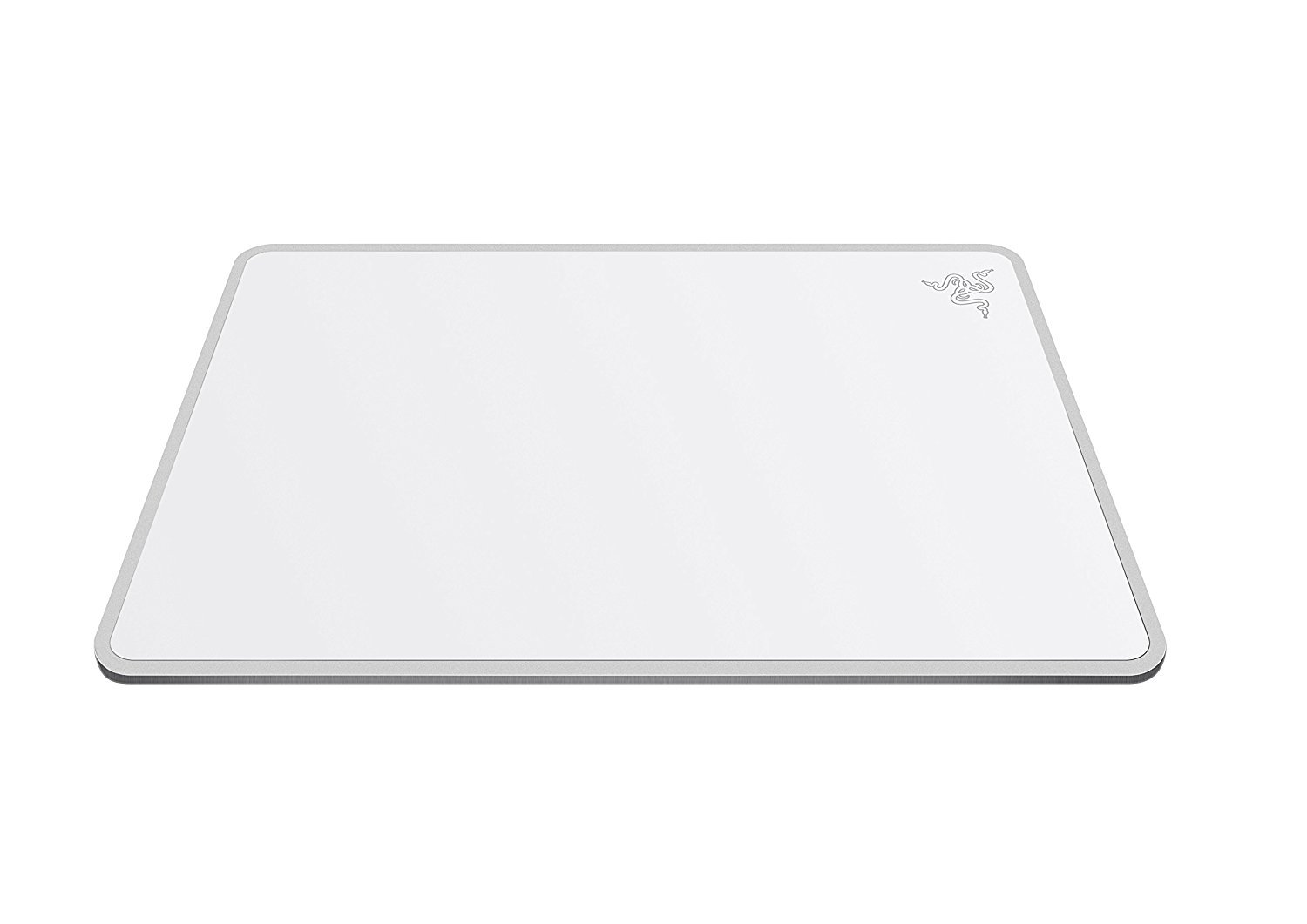 Razer Invicta gaming mousepad: Aircraft-Grade Aluminum Base - Included Double-Sided Mat Surface for Personalization - Anti-Slip Rubber Base - Mercury White by Razer