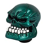 uxcell Teal Blue Skull Head Car Shift Knob Stick Shifter