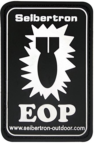 Seibertron White 'EOP' PVC Rubber 3D Hook&Loop Touch Fastener Patch  Tactical Patch