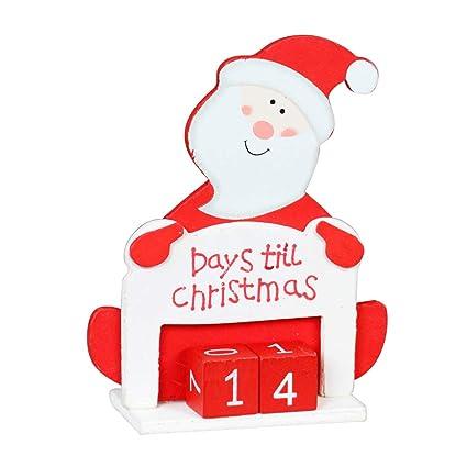 Days Till Christmas Uk.Christmas Countdown Days Till Christmas Advent Calendar Block