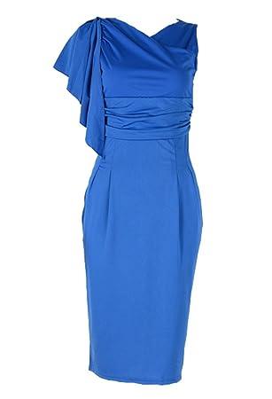 Las Mujeres Vestido Sin Mangas Vestidos Fiesta Cortos Vestidos De Cóctel De Noche - Azul -