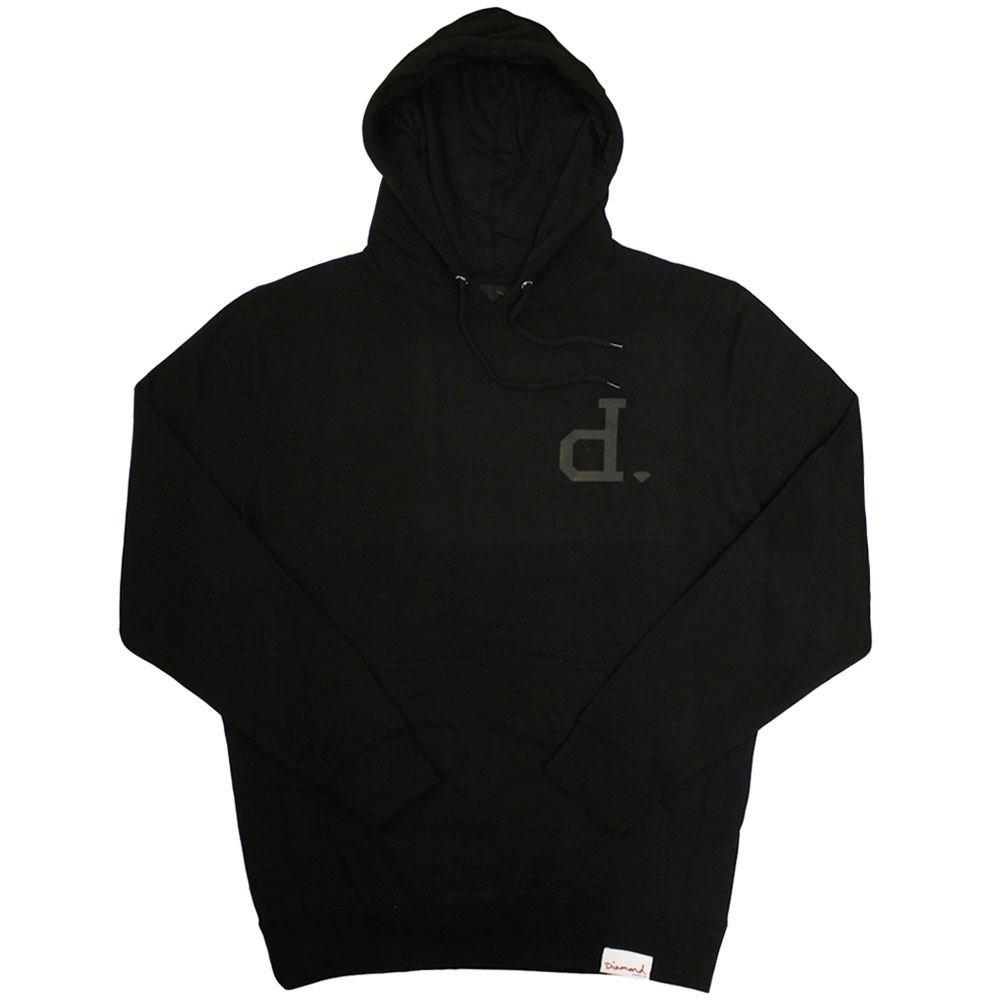 Diamond Supply Co. Tonal Un Polo Hoodie schwarz
