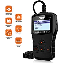 OBD Diagnostic Scanner THZY NI100 Universal Diagnostic scan tool Car Engine Fault Code Reader Battery Health Check scan tool for AUDI/VW/FORD/GM/CHRYSLER/BENZ/BMW/PORSCHE car, SUV, light duty vehicle