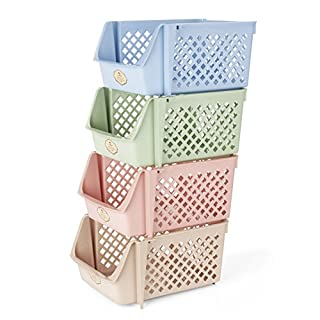 Titan Mall Storage Bins Plastic Stackable Storage Bins For Food, Fruits,  Files, Mixed