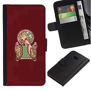 KLONGSHOP // Tirón de la caja Cartera de cuero con ranuras para tarjetas - Mario Princesa - HTC One M8 //