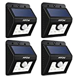 LED Solar Motion Sensor Lights, Mpow® 3-in-1 Waterproof Solar Energy Powered Security Light Outdoor Bright Light Lamp with 3 Intelligient Modes 8 Bright Nodes for Garden, Outdoor, Fence, Patio, Deck, Yard, Home, Driveway, Stairs, Outside Wall etc(4 Units)