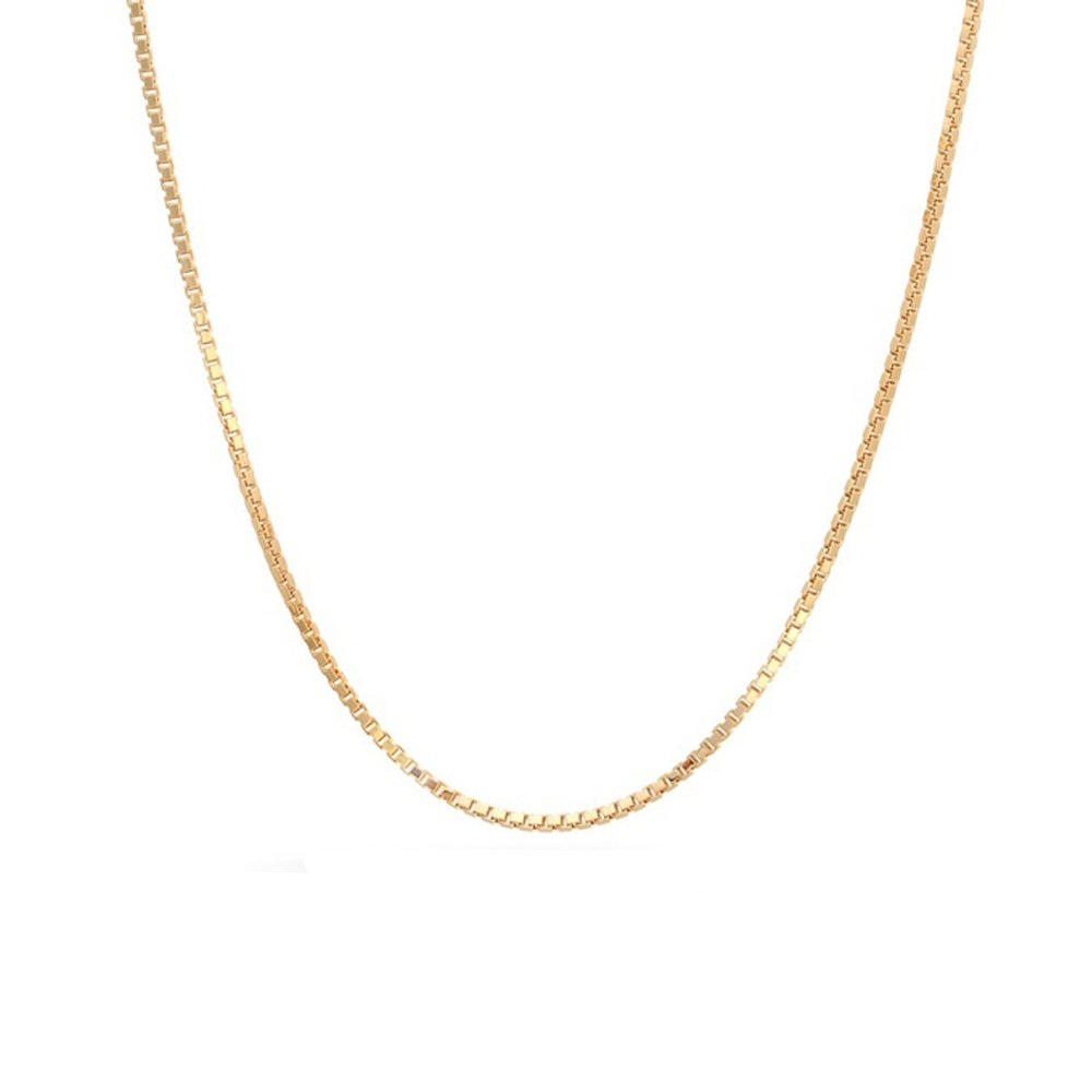 14k Yellow Gold Box 015 0.90mm 36'' Chain by Decadence