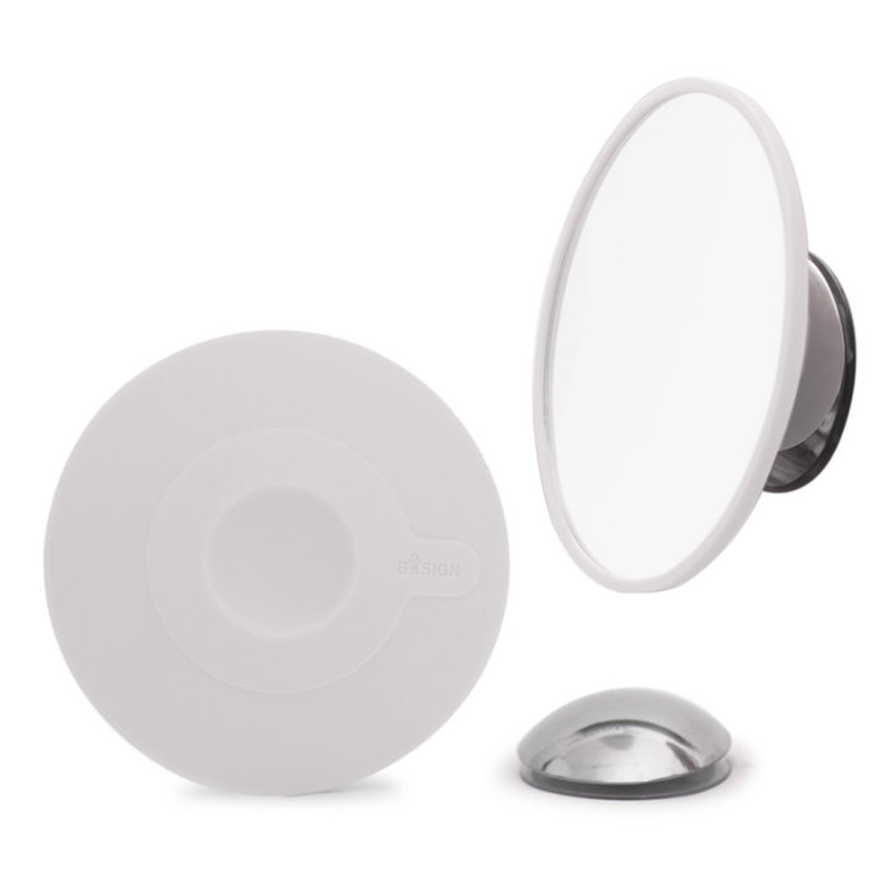 Bosign Mirror Magnification by 10 White with Suction Cup Magnetic Mount