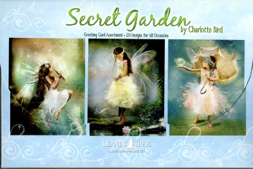 Secret Garden - Child Fairies Greeting Card Assortment by Charlotte Bird [AST90734] - 20 Greeting Cards with Full-color Interiors and Designed Envelopes (Fairy Boxed)