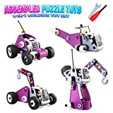 EpochAir 4-in-1 Assembled Puzzle Toy Set, Car Toys, Intellective Building Blocks for Boys and girls, Car, Airplane, Trailer and Tower Crane, Four Models Transformable, Girl and Boy Gifts (80 PCS)