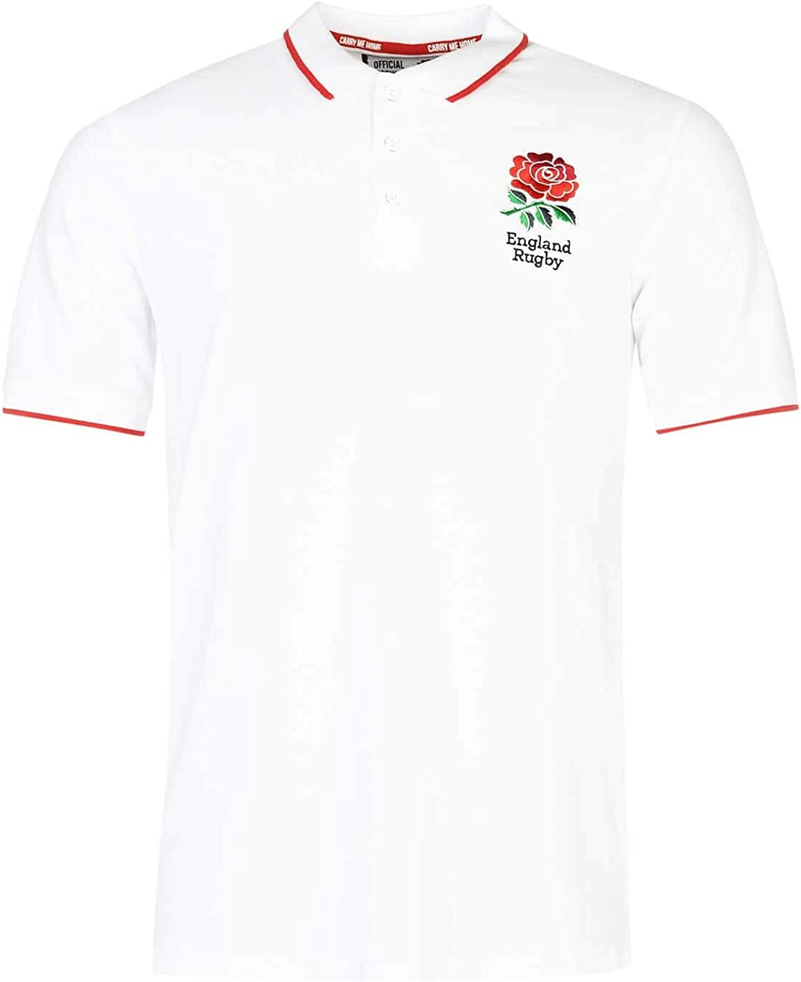 RFU Hombre England Rugby Core Polo Camisa Camiseta Ropa Deporte Running Entrenar