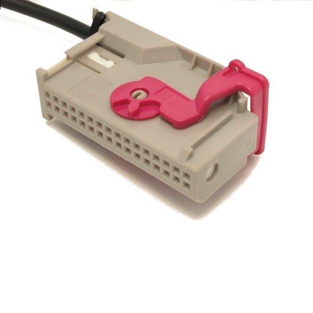 GLB 3,5/mm jack-cassette Adapter passend f/ür Audi Navigation Plus A3/A4/A6/A8/TT R8/RNS AUX Eingang Kabel AUX Buchse RNA RNS TV-Tuner Tyco 1J0/972/977/G rsn-e 32/Pins A//V Anschluss