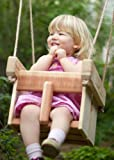 Wood Baby or Toddler Swing, Cedar Handmade Porch or Tree Swing For Sale