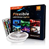PHOPOLLO Led Strip Lights Kit RGB Color Changing 32.8ft 10m 5050 600leds Waterproof for Home with Better Performance: more info