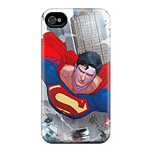 Anti-Scratch Cell-phone Hard Covers For Iphone 4/4s With Customized Realistic Superman Image SherriFakhry