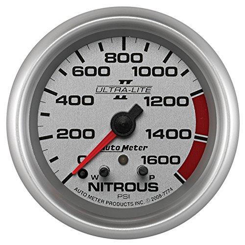 Ultra Lite Nitrous Pressure Gauge - Auto Meter 7774 Ultra-Lite Pro II 2-5/8