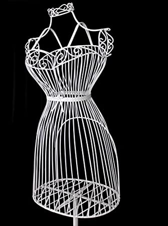 Metal Maniquí Maniquí - Busto decorativo perchero alambre ...