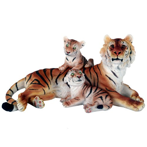 Pacific Giftware Wildlife Bengal Tiger With Cubs Big Cat 12.5 Inch Lifelike Collectible Figurine Statue Home Decor Gift (Tiger Bengal Cub)