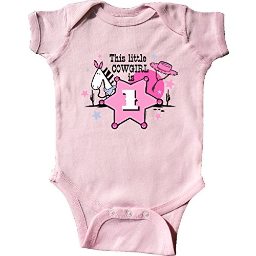 inktastic - Little Cowgirl 1st Birthday Infant Creeper 12 Months Pink for $<!--$14.99-->