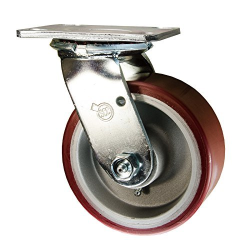 Service Caster SCC-30CS520-PAR Swivel Caster, Poly Tread on Aluminum Core, 1000 pounds Capacity, 5