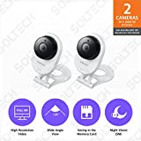 Samsung SNH-E6413BMR SmartCam HD WiFi IP Camera with 16GB microSD Card Bundle Double Pack (Certified Refurbished)