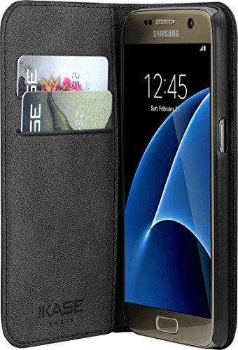 Schutzhülle Klappdeckel mit Hüllen CB & Stand für Samsung Galaxy S7, schwarz