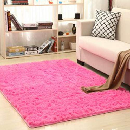 nOnioX Living Room Carpets Bedroom Kids Room Fluffy Rug Baby Crawl Mats Anti Skid Faux Fur Soild Colour Area Rug