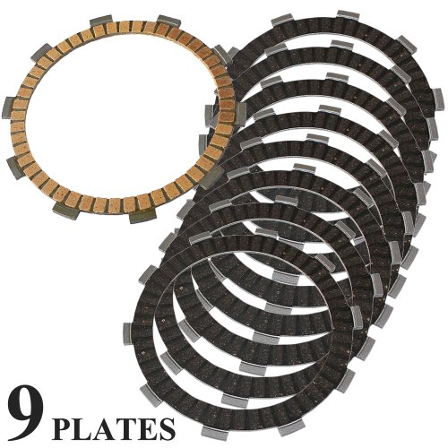 Caltric CLUTCH FRICTION PLATE Fits HONDA CBR600 CBR600F3 1995-1998 MOTORCYCLE 9 PLATES
