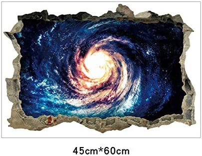 Baby Products Window Decorations Black Hole Vortex 3d Removable Wall Decal Children Kids Home Room Nursery Diy Decorative Adhesive Art Mural Wallpark Blue Space Galaxy Sticker